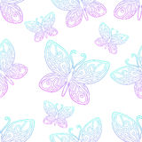 Seamless Texture Butterfly Lineart Stock Photography