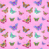 Seamless texture Butterfly Stock Photo