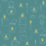 Seamless texture of candles Royalty Free Stock Images