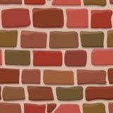 Seamless texture of a cartoon brick wall Stock Image
