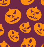 Seamless Texture with Carving Pumpkins. Illustration Seamless Texture with Carving Pumpkins, Halloween Giftwrap - vector Stock Photo
