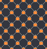 Seamless Texture with Carving Pumpkins. Illustration Seamless Texture with Carving Pumpkins, Halloween Wallpaper - Vector vector illustration