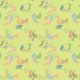 Seamless texture with cats Royalty Free Stock Image
