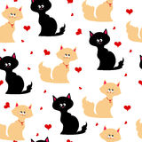 Seamless texture with cats Royalty Free Stock Photos