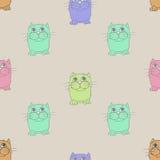 Seamless texture. Cats. Royalty Free Stock Photos