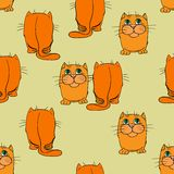 Seamless texture. Cats. Stock Images