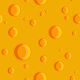 Seamless texture of cheese with holes Stock Image
