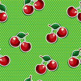 Seamless texture with cherry. Seamless texture of black cherries Stock Photos