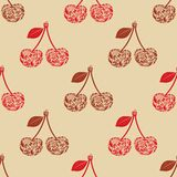 Seamless texture with cherry. ΠRoyalty Free Stock Image