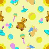 Seamless texture children`s theme royalty free illustration