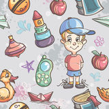 Seamless texture of children's toys for the boy Royalty Free Stock Photo