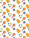Seamless texture from childrens' toys Stock Photos