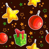 Seamless texture Christmas. Seamless texture with Christmas decorations Stock Photography