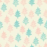 Seamless texture with Christmas trees Royalty Free Stock Photo