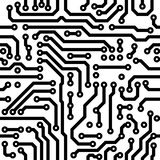 Seamless  texture - circuit board. Monochrome seamless  texture - electronic circuit board Royalty Free Stock Images