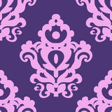 Seamless texture with a classic pattern in violet tones Royalty Free Stock Images