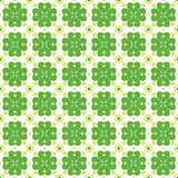 Seamless texture with clover of four leaves Royalty Free Stock Photography