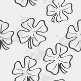 Seamless texture with clover leaf for St. Patrick's Day. black c Royalty Free Stock Image