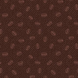 Seamless texture with coffee beans. Stock Photo
