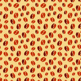 Seamless texture with coffee beans Royalty Free Stock Photos
