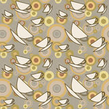 Seamless texture with coffee cup Royalty Free Stock Photo