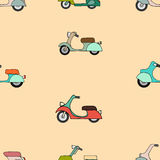 Seamless texture with color scooters Royalty Free Stock Image