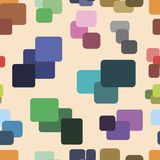 Seamless texture with color squares Royalty Free Stock Photos