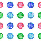 Seamless texture of colored gems isolated on background Royalty Free Stock Photography