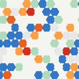 Seamless texture of colored hexagon. Seamless texture of colored hexagons. Used as a backdrop, seamless texture, pattern fill Royalty Free Stock Photos