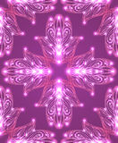 Seamless texture with colored tribal Hamsa with boho pattern Stock Photos