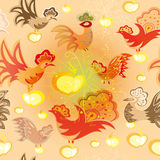 Seamless texture with colorful birds Stock Photos