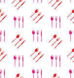 Seamless Texture of Colorful Cutlery Royalty Free Stock Photo