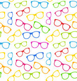 Seamless Texture with Colorful Eyeglasses Royalty Free Stock Images