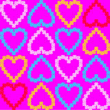 Seamless texture of colorful hearts. vector patter Royalty Free Stock Photo