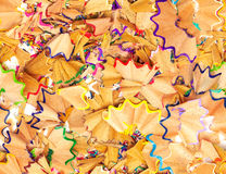 Seamless texture colorful pencil shavings Royalty Free Stock Image