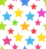 Seamless Texture with Colorful Stars, Elegance Kid Pattern Stock Image