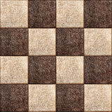 Seamless texture combination of leather squares Royalty Free Stock Photography