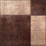 Seamless texture combination of leather squares Royalty Free Stock Image