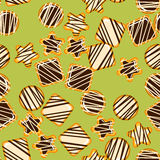 Seamless texture with cookies. Stock Images
