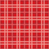 Seamless texture of cotton fabric with plaid Stock Photography