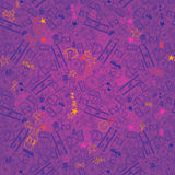 Seamless texture for crazy party in hand draw style Stock Image