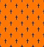Seamless Texture with Crosses of Graves Royalty Free Stock Photos