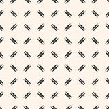 Seamless texture with crosses, triangles. Repeat tileable design for decor, textile. Vector minimalist seamless texture with small edgy geometrical shapes Stock Photography