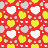 Seamless texture with cute colorful hearts Royalty Free Stock Photography
