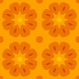 Seamless texture with cute stylized flowers in warm orange. For print on textiles, bed sheets, tablecloths, wrapping paper, wall/floor tiles for kitchen/ Royalty Free Stock Photography