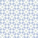 Seamless texture with 3D rendering abstract fractal blue pattern Stock Image