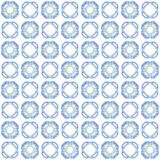 Seamless texture with 3D rendering abstract fractal blue pattern Royalty Free Stock Image