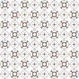 Seamless texture with 3D rendering abstract fractal brown pattern Royalty Free Stock Photography
