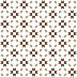 Seamless texture with 3D rendering abstract fractal brown pattern. On a white background for fabric design Royalty Free Stock Photo