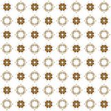 Seamless texture with 3D rendering abstract fractal brown pattern. On a white background for fabric design Royalty Free Stock Images